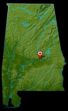 Alabama River Map - Cooter's Pond Map