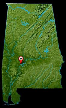 Alabama River Map - Miller's Ferry