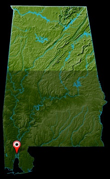 Mobile-Tensaw River Delta Map