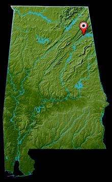 Weiss Lake Map