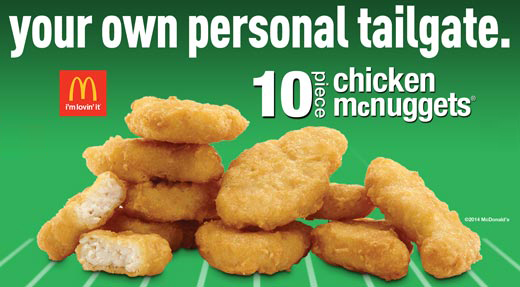 McDonald's Chicken Nuggets - Your own personal tailgate