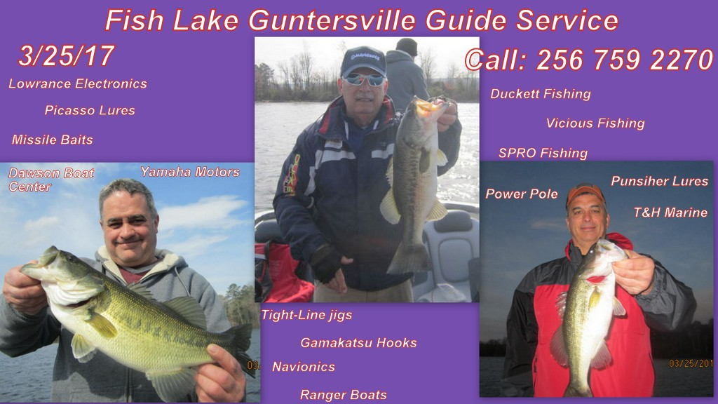 Fishing report lake guntersville 3 25 17 alabama bass for Wheeler lake fishing report