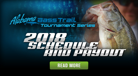 Alabama Bass Trail Tournament Series 2018 Schedule and Payout