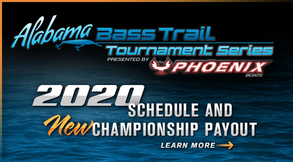 Alabama Bass Trail Tournament Series 2019 Schedule and Payout