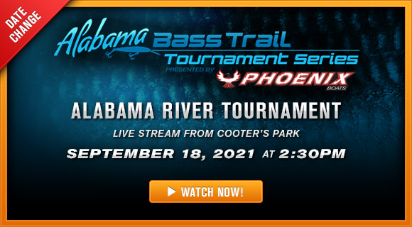Alabama River Tournament Live Stream Launch from Cooters Pond